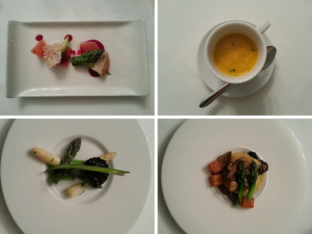 first 4 courses