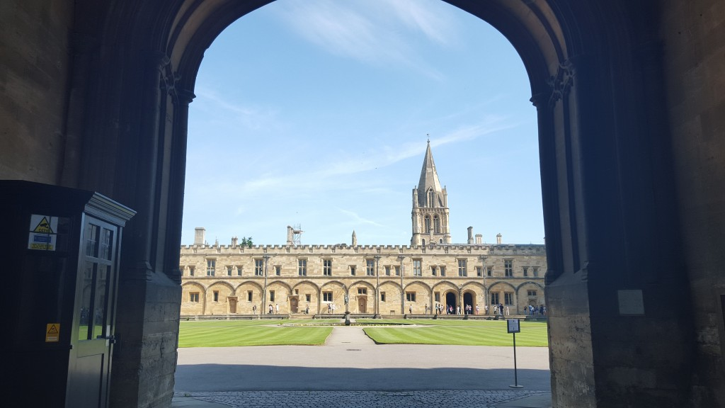 Stay at Christ Church College:  The college's quadrangle is one of the most famous in the UK