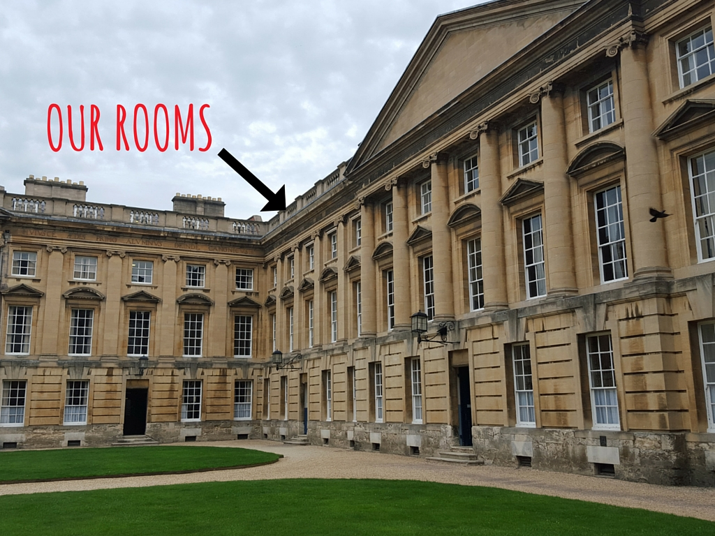 Stay at Christ Church College: Our rooms were at the top of this building