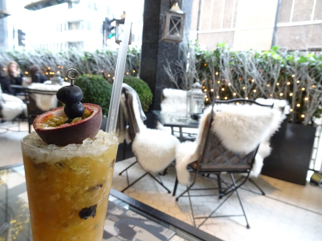 Christmas sights in London: The Churchill Bar and Terrace