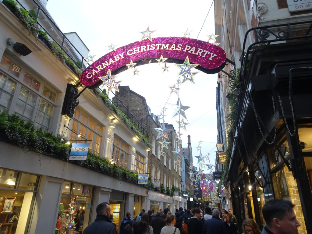 Christmas sights in London: Carnaby Street