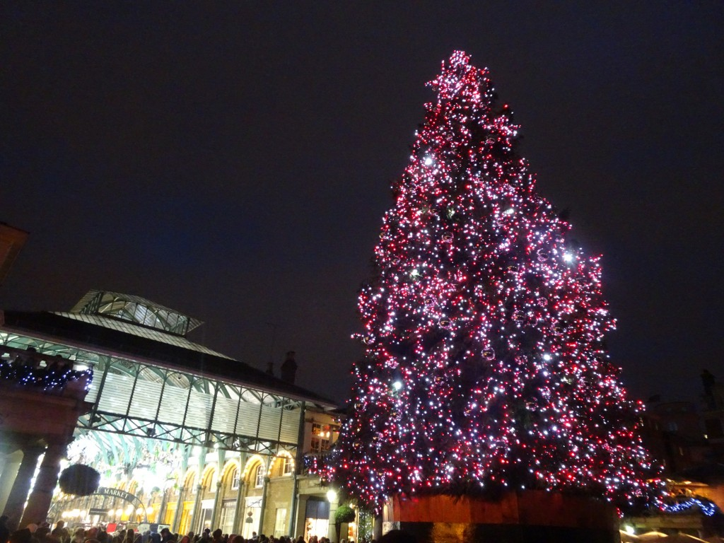 Christmas sights in London: Covent Garden