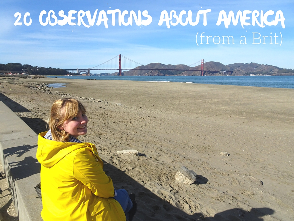 The Cosy Traveller gives her observations about America