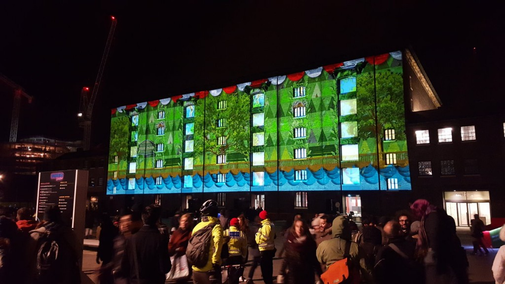 Another of the light displays at the Lumiere Festival