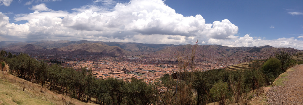 Walking the Inca Trail: Cusco from above