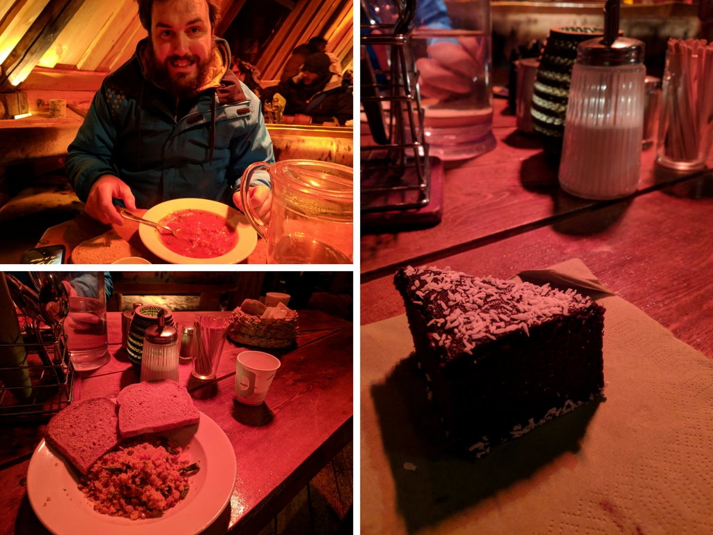 A hearty and delicious meal at Tromsø Villmarksenter