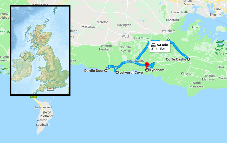 Map Of England Jurassic Coast.4 Places To Go On A Jurassic Coast Road Trip The Cosy Traveller