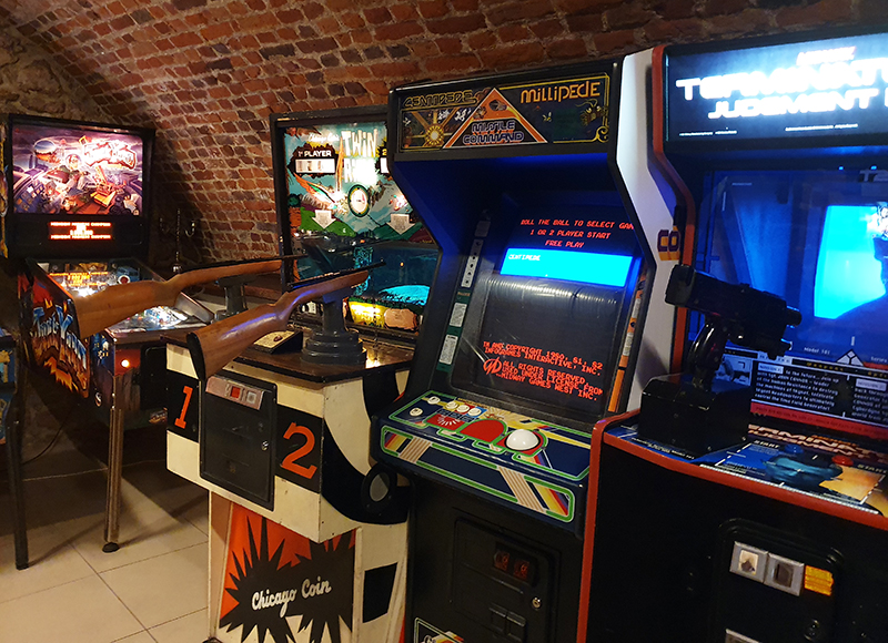 Quirky things to do in Krakow Poland Krakow Pinball museum arcade games