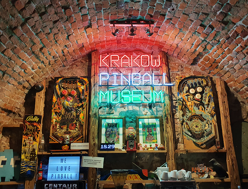 quirky things to do in Krakow poland including Krakow Pinball Museum