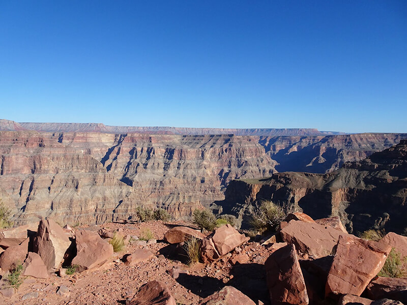 View at the Grand Canyon West Rim