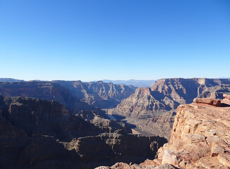 View of the Grand Canyon West Rim river