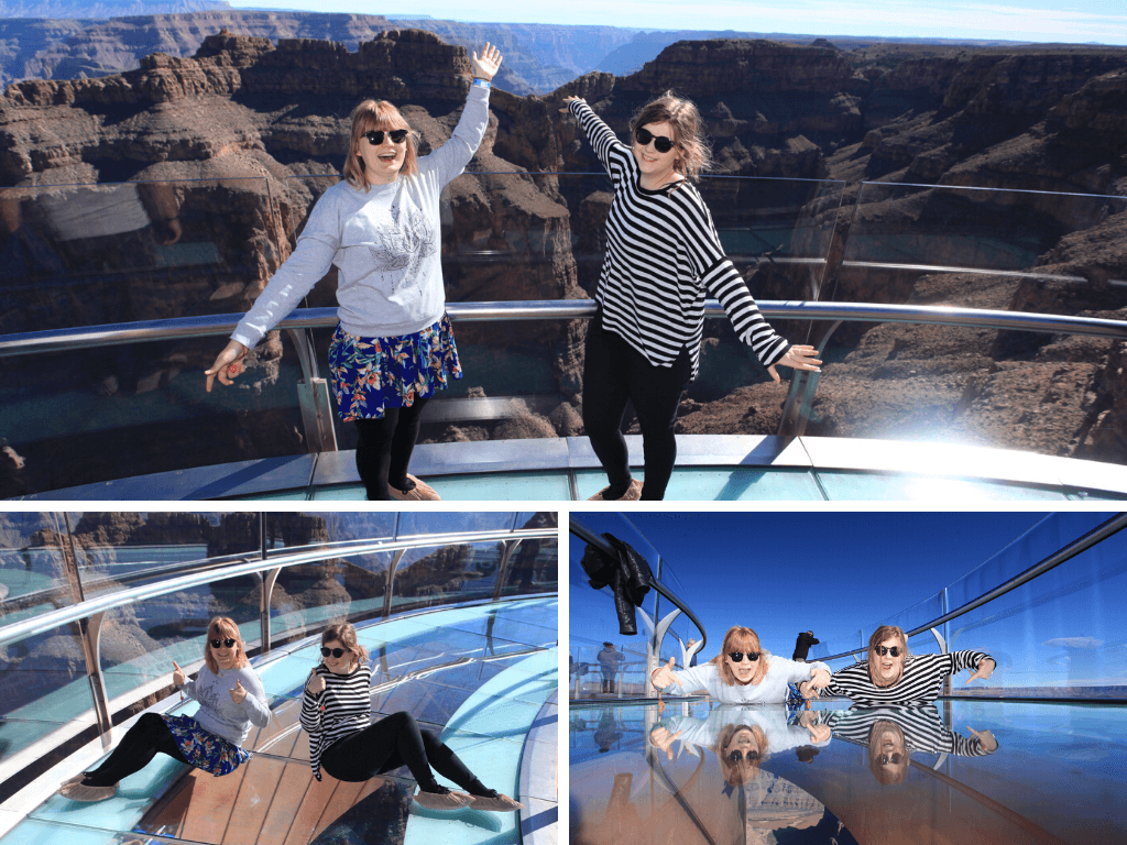 Professional photos at the Skywalk Grand Canyon West Rim