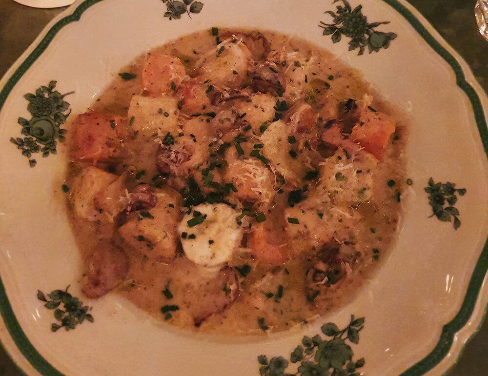 A plate of gnocchi