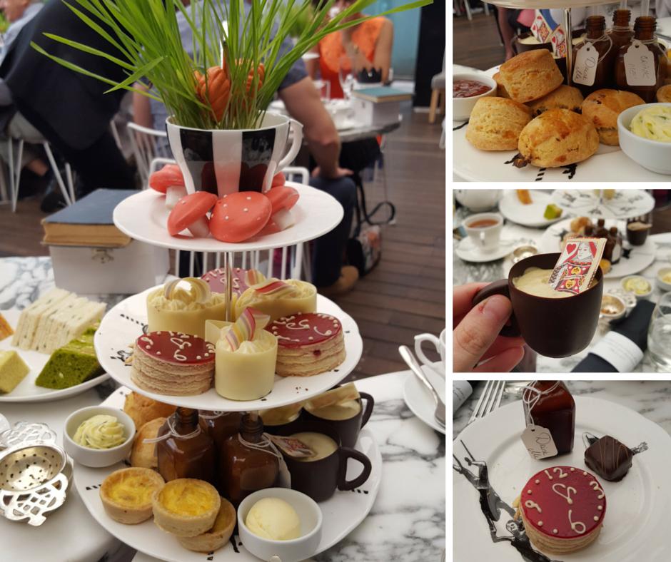 Afternoon tea at Sanderson Hotel
